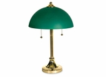 Desk Lamp - Brass Base/ Green Shade - LEDL9030
