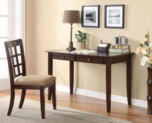 Desk with Two Drawers & Desk Chair - 800780