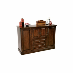 Devino Hide-A-Bar Console in Americana Cherry - Howard Miller