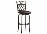 "Diamonds Bar Stool 30"" - Linon Furniture - 02753MTL-01-KD-U"