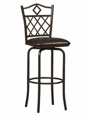 "Diamonds Counter Stool 24"" - Linon Furniture - 02752MTL-01-KD-U"
