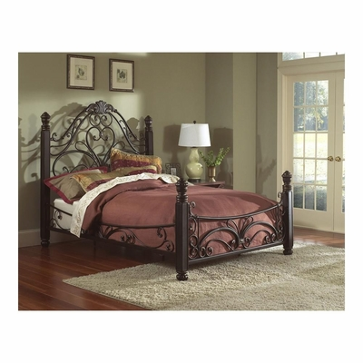 Diana Antique Bronze Metal Bed - Largo - LARGO-ST-1195X