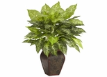 Dieffenbachia with Decorative Vase Silk Plant - Nearly Natural - 6676