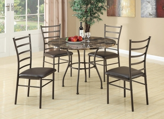 Dinettes 5 Piece Dining Set w/ Round Table and 4 Side Chairs - 150112