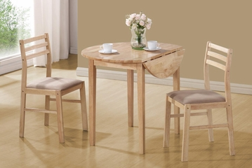 Dinettes Casual 3 Piece Table & Chair Set - Natural - 130006