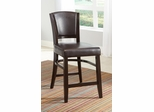 "Dining 1036 25"" Counter Stool in Brown - Set of 2 - 103689BRN"
