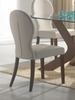 Dining Chair (Set of 2) in Medium Walnut / Light Gray - Coaster - 120362-SET