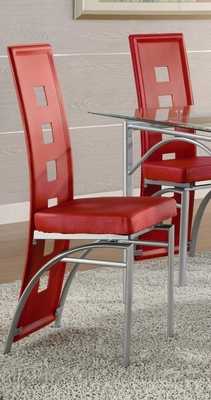 Dining Chair (Set of 2) in Red - Coaster - 101683-SET