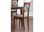 Dining Chair with Cross Back Design (Set of 2) in Walnut - Coaster