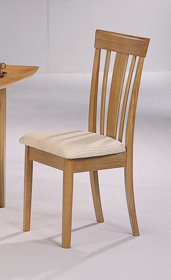 Dining Chair with Fabric Seat (Set of 2) in Natural - Coaster