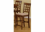 Dining Chair with Wheat Back Design (Set of 2) in Walnut - Coaster