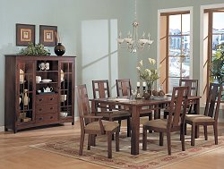 Dining Room Furniture Set 1 in Warm Walnut Finish - 929-DINING-SET-1