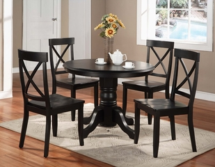 Dining Room Furniture Set in Black - 5178-DSET-1