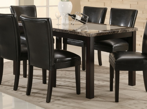 Dining Table in Deep Cappuccino - Coaster - 102260
