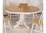Dining Table in Natural / White - Coaster