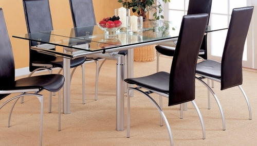 Dining Table in Pearl Silver - Coaster