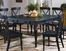 "Dining Table with 18"" Leaf in Black Rub-Through Finish - 715"