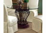 Dining Table with Glass Top in Terracotta - Coaster