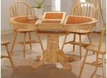 Dining Table with Terracotta Tile Top in Natural - Coaster