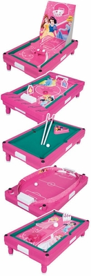 Disney Princess Mini 5 in 1 Table Top Game - Franklin Sports