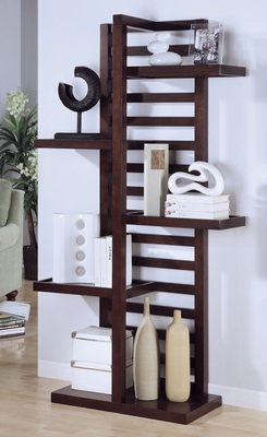 Display Bookcase in Cappuccino - Coaster