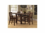 Distressed Chestnut Outback 5-Piece Counter Height Dining Set - Hillsdale