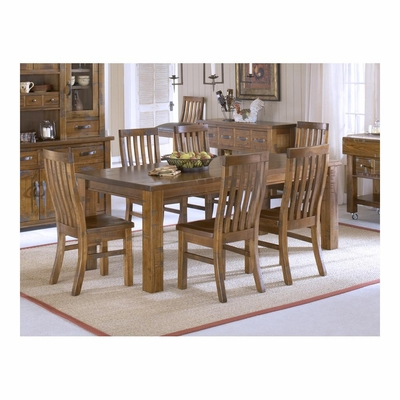 Distressed Chestnut Outback 7-Piece Dining Set - Hillsdale