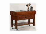 Distressed Chestnut Outback Kitchen Island - Hillsdale