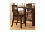 Distressed Chestnut Outback Non-Swivel Counter Stool - Set Of 2 - Hillsdale
