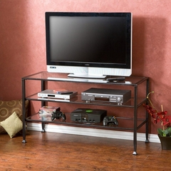 Distressed Metal / Glass TV Stand - Holly and Martin