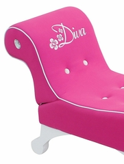 Diva Chaise Lounger in Pink - Lumisource - CHR-DIVALNG-PK