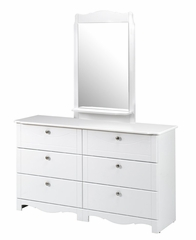 Dixie 6 Drawer Double Dresser - Nexera Furniture - 310603