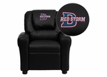 Dixie State College Red Storms Black Vinyl Kids Recliner - DG-ULT-KID-BK-41025-EMB-GG