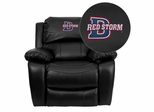 Dixie State College Red Storms Leather Rocker Recliner - MEN-DA3439-91-BK-41025-EMB-GG
