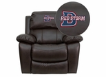 Dixie State College Red Storms Leather Rocker Recliner - MEN-DA3439-91-BRN-41025-EMB-GG