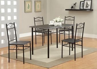 Dixon 5PC Table and Chair Set in Black - 120573