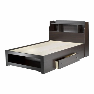 Dixon Full Size Storage Bed with Bookcase Headboard - Nexera Furniture