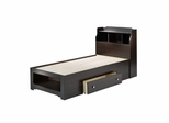 Dixon Twin Size Storage Bed with Bookcase Headboard - Nexera Furniture