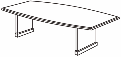 DMI Office 120 Inch Boat Shaped Conference Table - Transitional Office Furniture - 7130-97