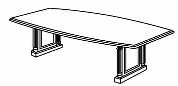 DMI Office 120 Inch Boat Top Conference Table - Traditional Office Furniture - 7990-99