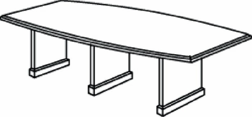 DMI Office 144 Inch Boat Shaped Conference Table - Transitional Office Furniture - 7130-98