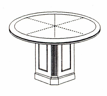 DMI Office 42 Inch Round Conference Table 7376-89