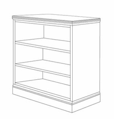 DMI Office 48 Inch Bookcase - Executive Office Furniture / Home Office Furniture - 7130-048