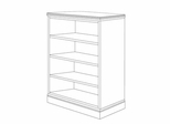 DMI Office 60 Inch Bookcase - Executive Office Furniture / Home Office Furniture - 7130-060