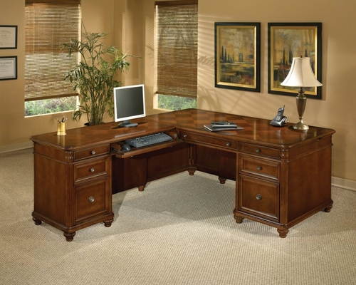 DMI Office 72 Inch L-Shaped Computer Desk with Left Return - 7480-56