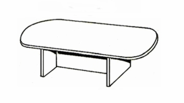 DMI Office 96 Inch Race Track Conference Table - Transitional Office Furniture - 7130-96