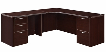 "DMI Office Corner L Shape with 42"" Left Return - 7004-51"