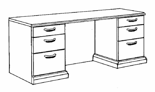 DMI Office Credenza - Transitional Office Furniture - 7130-21