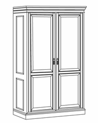 DMI Office Double Door Wardrobe - 7990-06