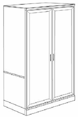 DMI Office Double Door Wardrobe - Executive Office Furniture / Home Office Furniture - 7130-06